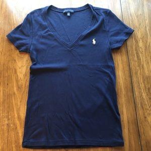 Polo Ralph Lauren V-Neck T-Shirt - Size L